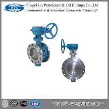 Drenagem indústria da água engrenagem sem fim flange borboleta válvula D343H-16C