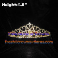 Heart Shaped Crowns Tiaras In Gold Plated
