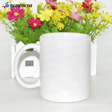 White ceramic cups with sublimation coating