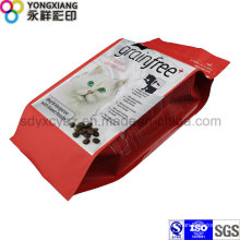 Size Customized Pet Food 4-Side Sealing Plastic Packaging Bag