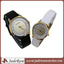 Leather Strap Fashion Bussiness Thin Couple Watch