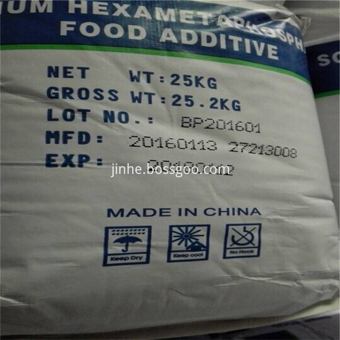 Food Additive Sodium Hexametaphosphate Food Ingredients SHMP