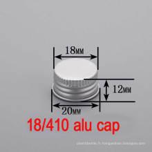 Bouchon / bouchon en caoutchouc en aluminium avec vis en aluminium de 18 mm