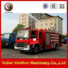 Camión de bomberos del tanque de agua 190HP 6m3 con el tanque de espuma 2m3