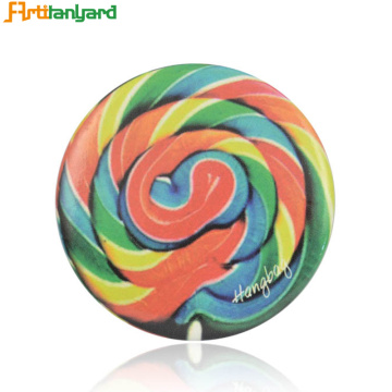Σήμα Sublimation Glitter Rainbow Round Pis Button