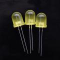 LED amarelo de brilho ultra-alto de 10 mm 60 graus