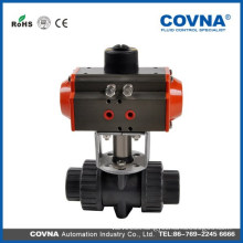 2 inch pneumatic actuator pvc ball valve double union air pvc valve