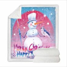 Super Soft Sweatshirt Cover Blanket Bedding Set for Men with 3D Digital Printing Christmas Eve