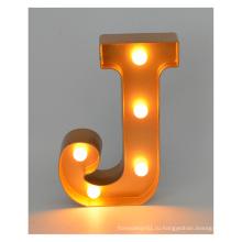 Пластиковые светодиодные письма для рождественских украшений