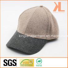 Polyester et laine de qualité chaude plaine rose et gris casquette de baseball