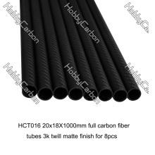 Tubo de fibra de carbono de 3k 20x18x1000mm para brinquedos de RC