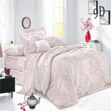 Conjuntos de cama tecidos de voile simples impressos em poliéster personalizados