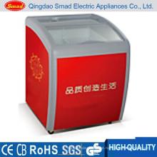 Congelador da exposição do gelado da caixa da mini carga 110L superior