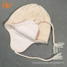 Sombrero de punto de niño con gorro de orejera cálido de invierno para bebés niño