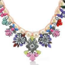 Collar del encanto 2014 nuevo estilo imitación perla enlace Abalorios acrílicos