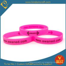 Wristband impresso gravado em relevo personalizado da forma