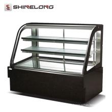R023 Buffet vitrina refrigerada de acero inoxidable