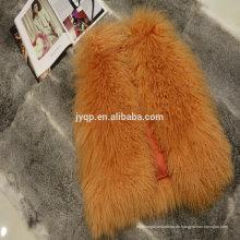 Großhandelstibetanische mongolische Lamm-Haut-Pelz-Mäntel für Frau