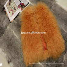 Wholesale Tibetan Mongolian Lamb Skin Fur Coats For Woman