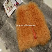Wholesale Tibetan Mongolian Lamb Skin Fur Coats For Woman