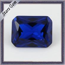 Precio de fábrica para el rectángulo de corte de zafiro azul piedra
