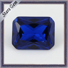 Factory Price for Rectangle Cut Blue Sapphire Stone