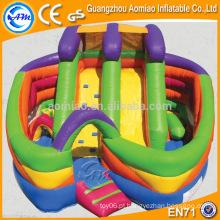 Curso de obstáculo inflável adulto novo projetado, equipamento engraçado do curso de obstáculo ao ar livre