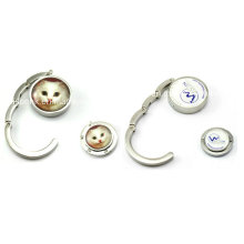 Round Epoxy Purse Hook for Promotion Gifts