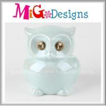 Cadeaux de haute qualité Décoration en céramique Owl Money Bank