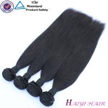 El pelo brasileño 3 parte del cierre del cordón empaqueta la armadura recta del pelo humano del pelo del cierre recto