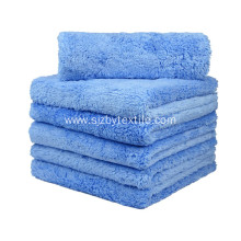 "450gsm 16""x16"" Microfiber Edgeless Car Cleaning Plush Towel"