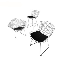 Eames Knoll Bertoia Wire Cushion Side Chair