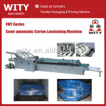 Máquina de laminación semiautomática de cartón corrugado