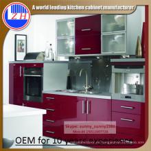 2016 Gabinete de madera brillante para el armario de la cocina