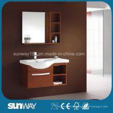 Novo gabinete de vaidade de banheiro de madeira sólida com boa qualidade