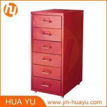 Muebles de hogar y oficina Red 6 Cajones de metal móvil Archivador o gabinete de almacenamiento