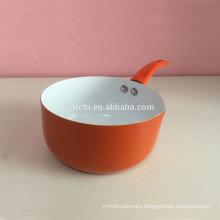 Aluminium ceramic tall saucepan