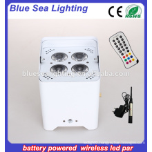 hot 4pcs x18W rgbwa uv mini battery powered led par can