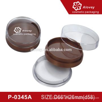 OEM compacto pó compacto caso recipiente com sopro