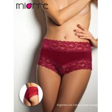 Miorre OEM Nuevo 2017 mujeres de la temporada de moda de encaje sexy High-cintura Hipster Panty