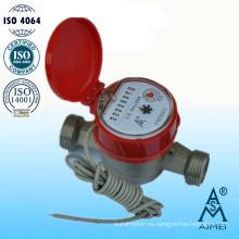 Medidor de agua de chorro único tipo seco latón caliente galón