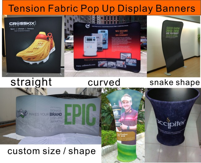 tension fabric pop up display