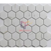 White Polished Ceramic Tile Hexagon Shape Mosaic (CST276)