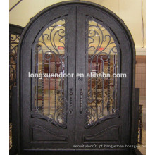 Design barato de portas de ferro forjado, portões de portas de ferro forjado usados Escolha de qualidade mais popular