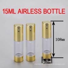 Bouteille en 15 ml de bouteille d'air sans air, bouteille de cosmétiques Lotion / Serums en plastique