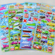 Design Customized Transportation Decorative Puffy Foam Sticker Sheet