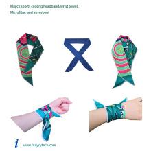 Microfiber Hot Yoga Towel, Fashion Sports Headband Ice Cooling Chill Towel, Cotton Turkish Beach Palm Leaf Decoration Towel