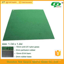 Anti-slip base synthetic grass golf swing mat/used golf mats/mini golf green