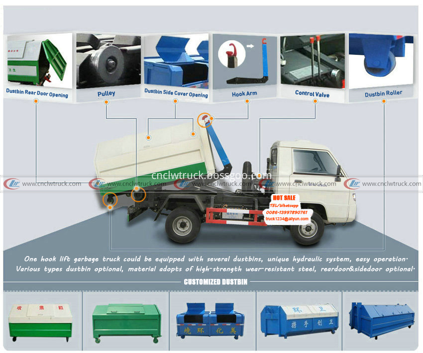 hook lift garbage truck structural diagram