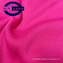 95 polyester 5 spandex 2x2 sports garment collar use rib knit fabric